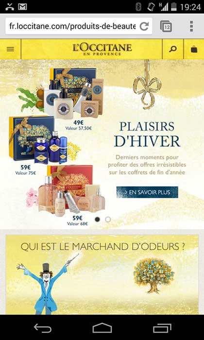 Loccitane-mobile-analyse-optimisation-ecommerce